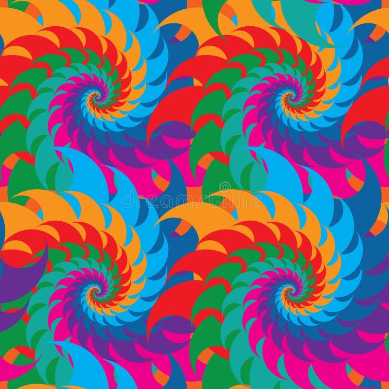 Картина красочной симметрии свирли безшовная иллюстрация штока