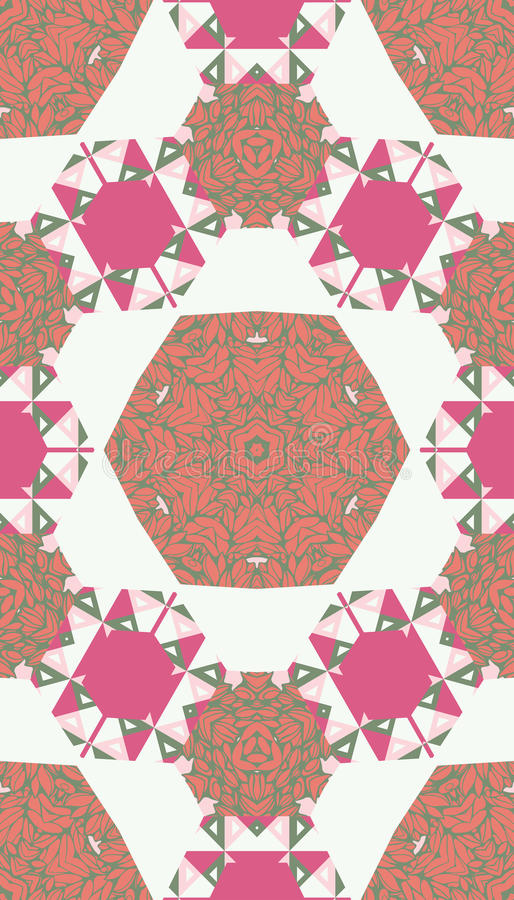 Картина красочных абстрактных форм 13 мандалы иллюстрация вектора