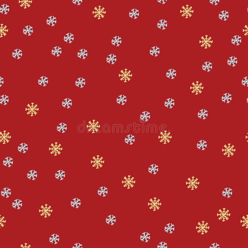 Картина Кристмас безшовная с снежинками стоковые изображения rf
