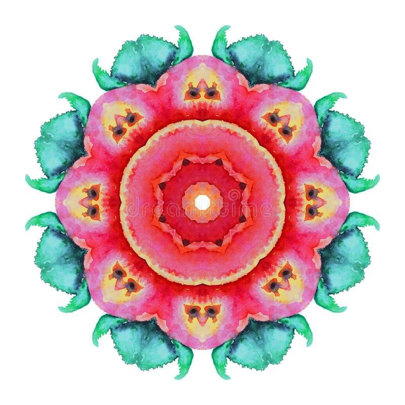 Картина круга акварели бесплатная иллюстрация