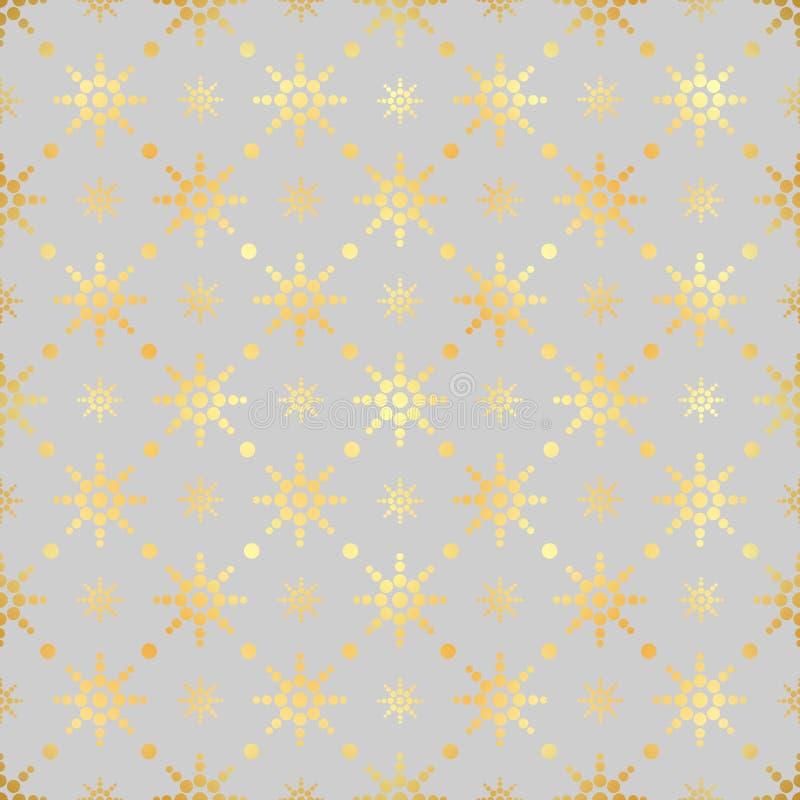 Картина круга золота безшовная Предпосылка абстрактного золота геометрическая современная Текстура сусального золота Тип стиля Ар иллюстрация вектора