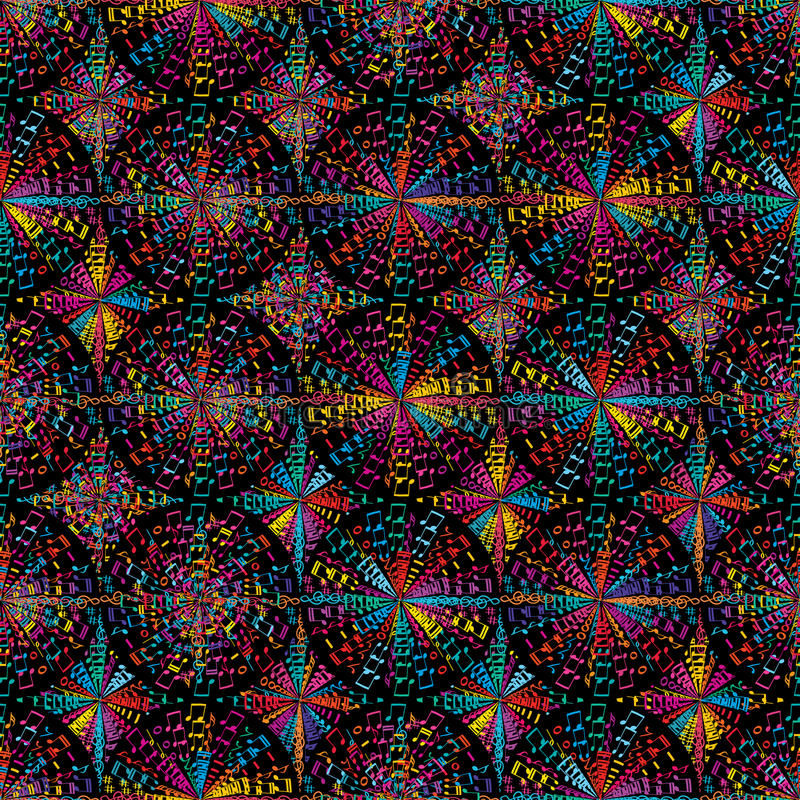 Картина круга музыки красочная безшовная иллюстрация вектора