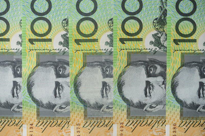 Картина круга долларовых банкнот австралийца 100 стоковое фото rf