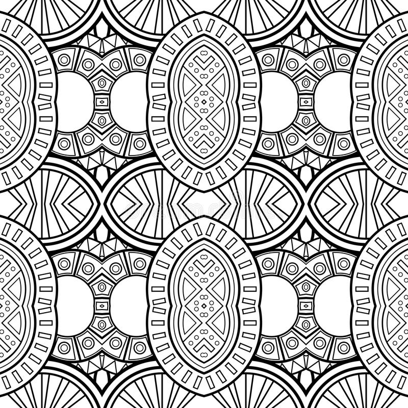 Картина кругов вектора безшовная Monochrome иллюстрация штока