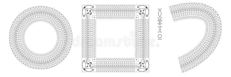 Картина, круг и квадратная рамка иллюстрация вектора