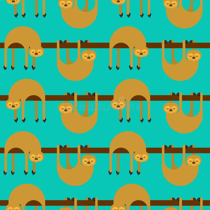 Картина лени безшовная предпосылка мультфильма lazybones животная самый лучший оригинал download печатает готовую текстуру для то бесплатная иллюстрация