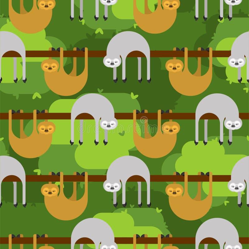 Картина лени безшовная предпосылка мультфильма lazybones животная самый лучший оригинал download печатает готовую текстуру для то иллюстрация штока
