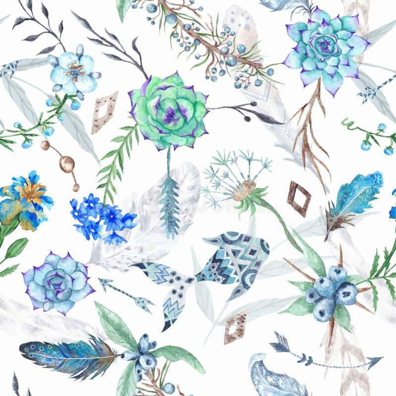 Картина леса акварели весны бесплатная иллюстрация