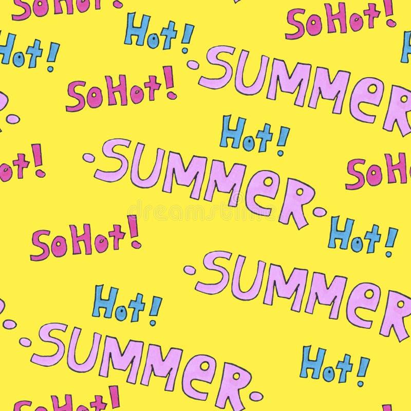 Картина лета горячая для предпосылки или пакета Концепция сезонов бесплатная иллюстрация