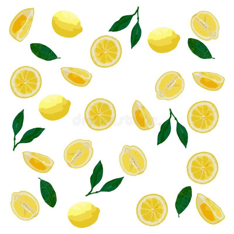 Картина лимонов в пастельных цветах Яркий, реалистический, сочный стоковая фотография
