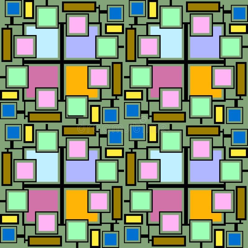 Картина линии мотивов и коробок много цветов бесплатная иллюстрация