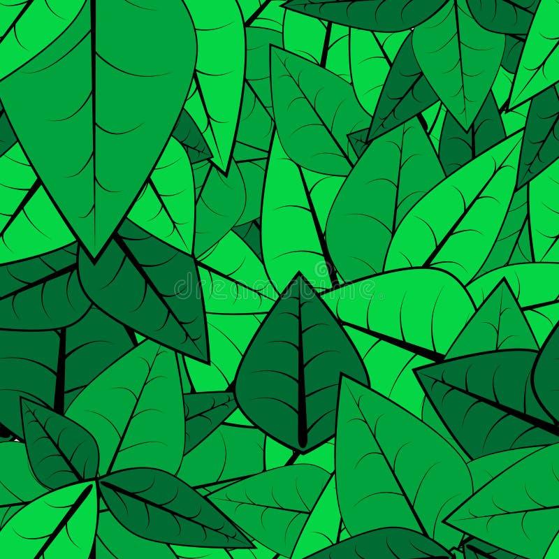 картина листьев безшовная иллюстрация вектора