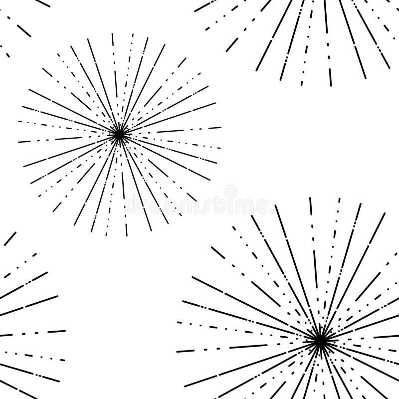 Картина лучей солнца с чернотой иллюстрация вектора