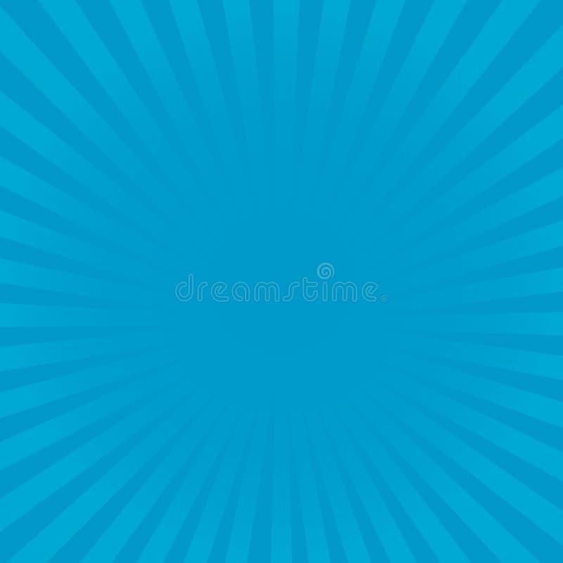 Картина лучей Sunburst голубая Радиальная иллюстрация вектора предпосылки луча sunburst иллюстрация штока