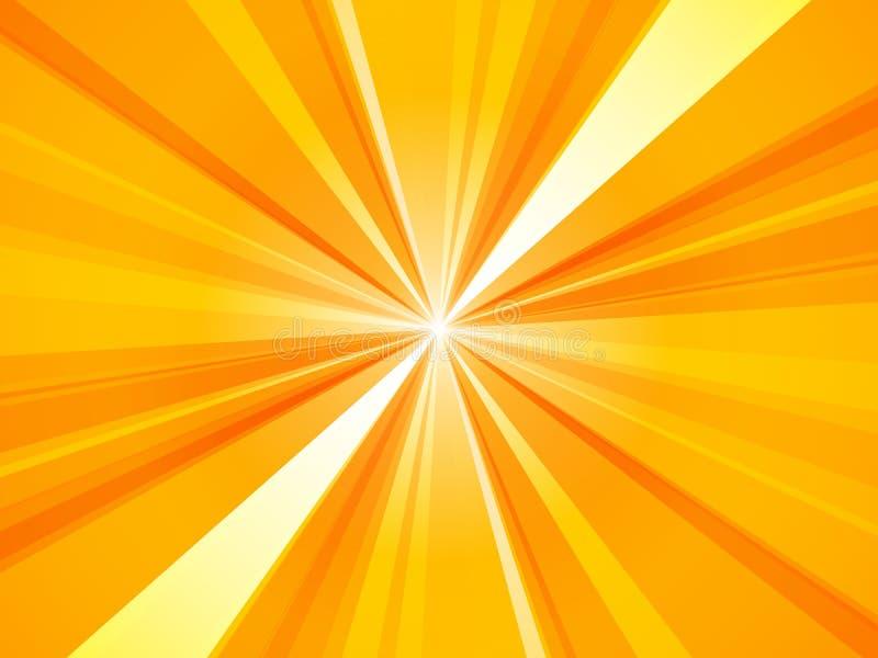 Картина лучей Sunburst предпосылки желтая абстрактная иллюстрация вектора