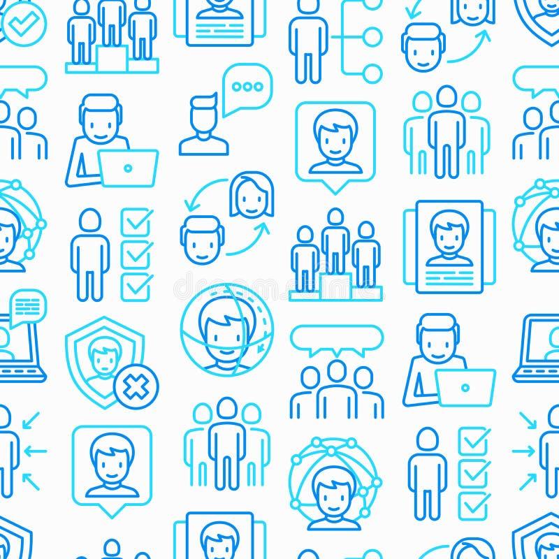 Картина людей и потребителей безшовная бесплатная иллюстрация