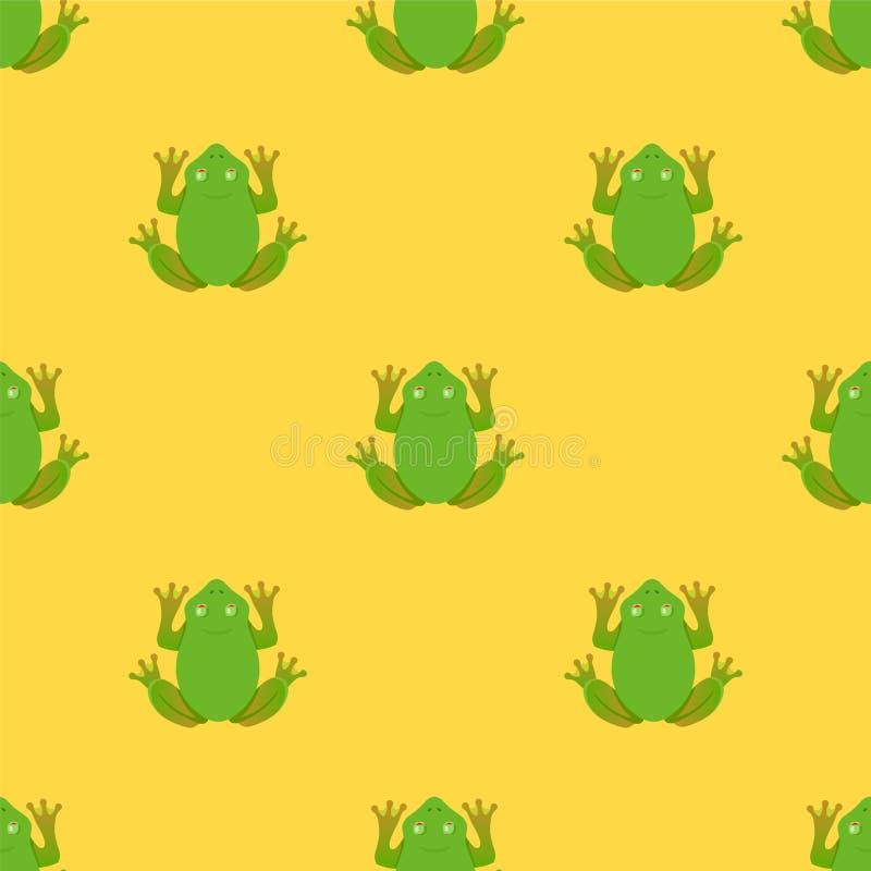 Картина лягушек на желтой предпосылке r бесплатная иллюстрация