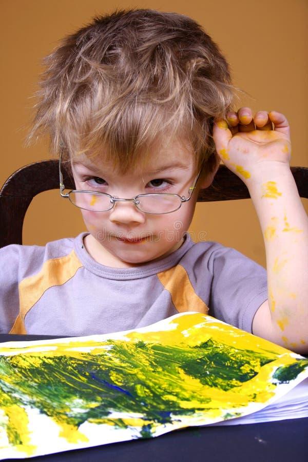 картина мальчика стоковые изображения