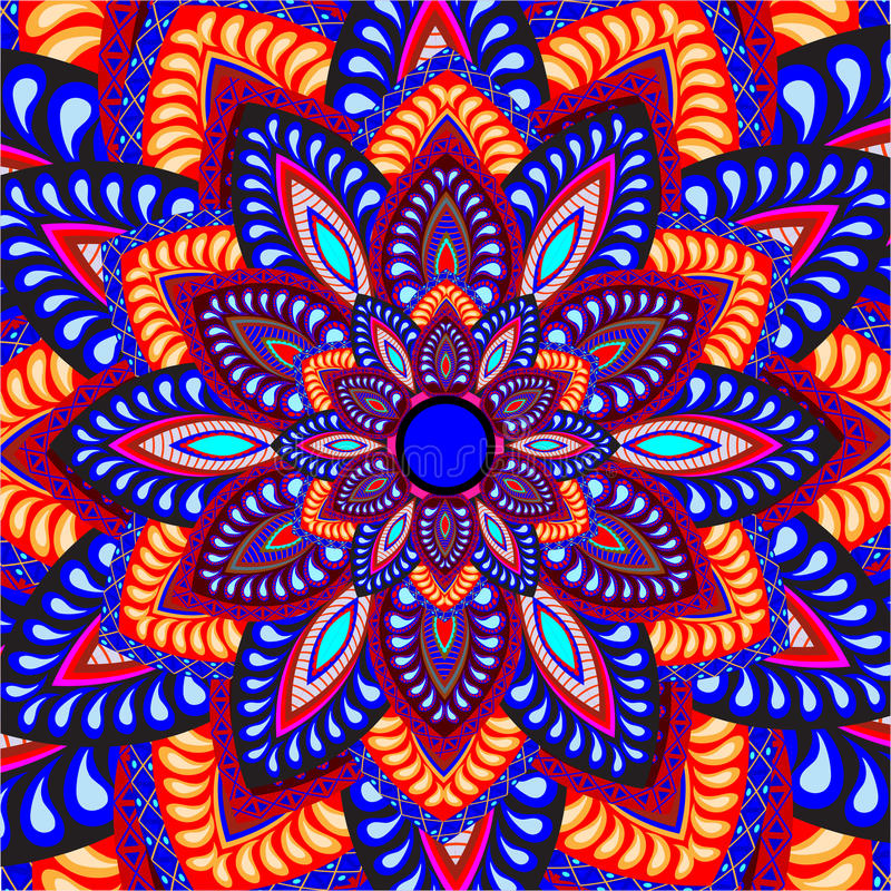 Картина мандалы бесплатная иллюстрация