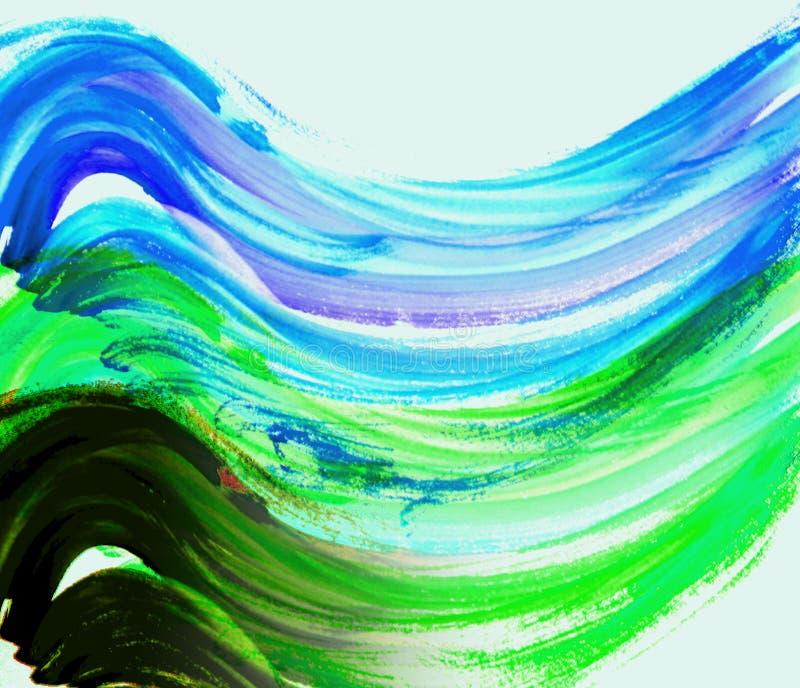 картина маслом иллюстрация вектора
