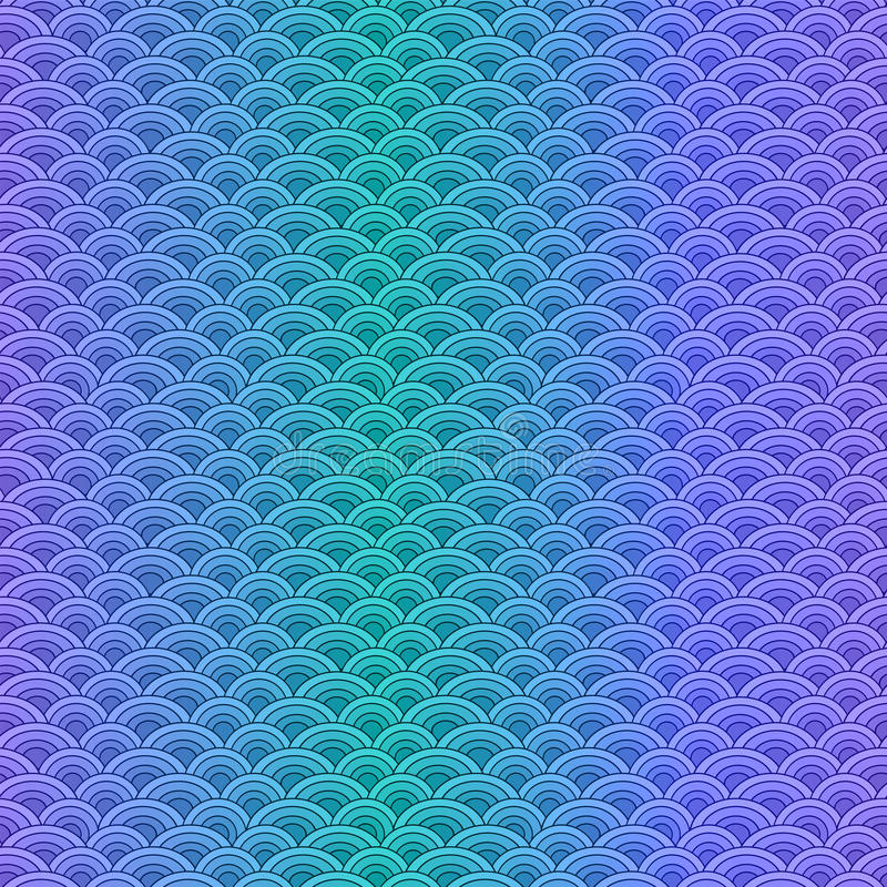 Картина масштабов морских рыб простая безшовная в мягких пастельных цветах иллюстрация вектора