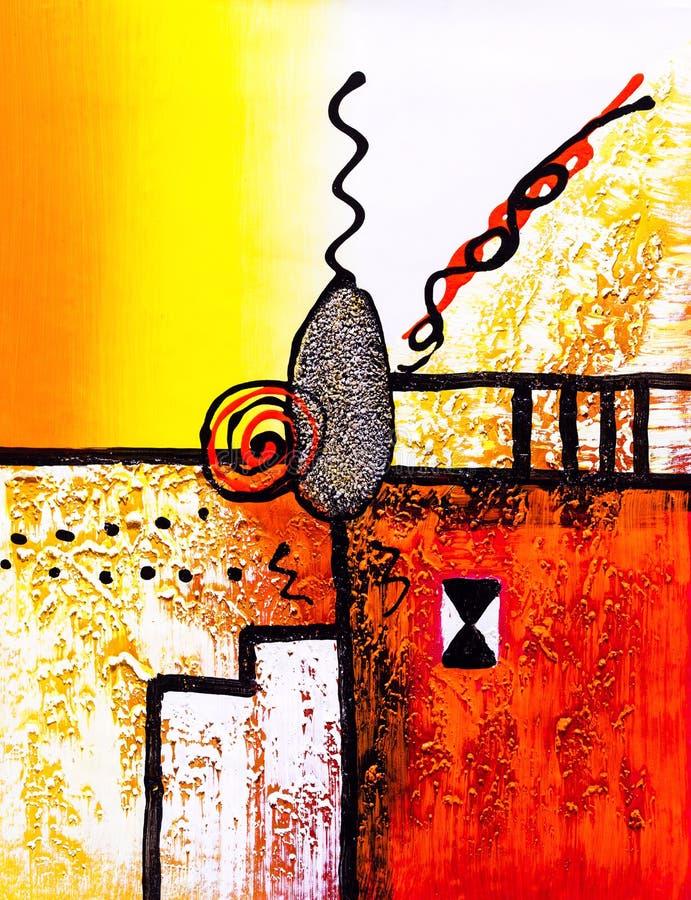 Картина маслом - абстракция бесплатная иллюстрация