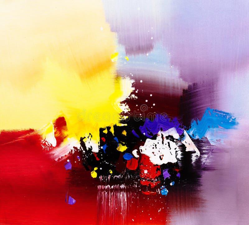 Картина маслом - абстракция иллюстрация штока
