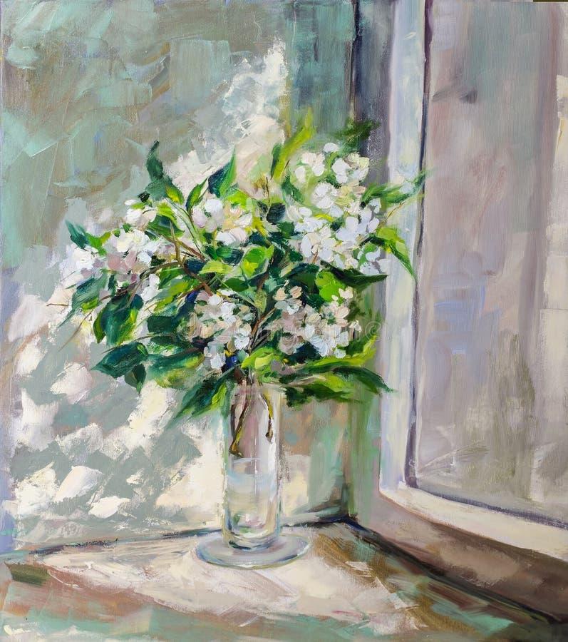 Картина маслом, стиль импрессионизма, картина текстуры, stil цветка бесплатная иллюстрация