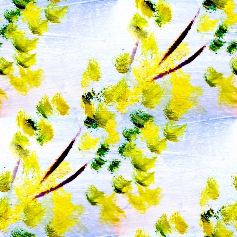 Картина маслом текстуры макроса весны безшовная дальше стоковая фотография