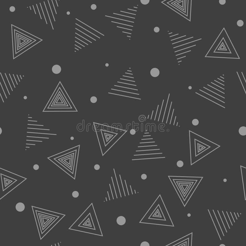 Картина Мемфиса хаотическо Треугольники и пункты безшовное backgro бесплатная иллюстрация