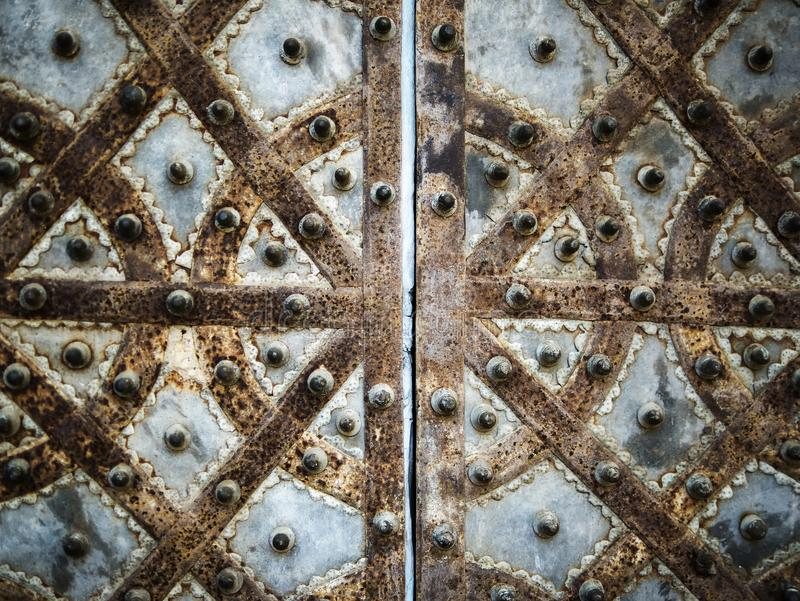 Картина металла строба декоративная стоковые изображения rf