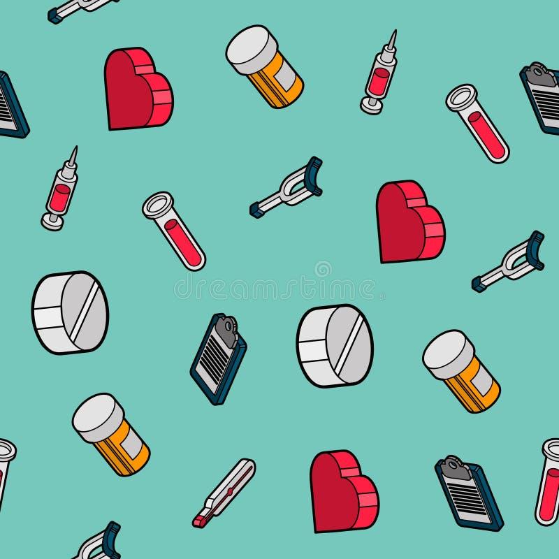 Картина медицинского плоского плана равновеликая иллюстрация штока