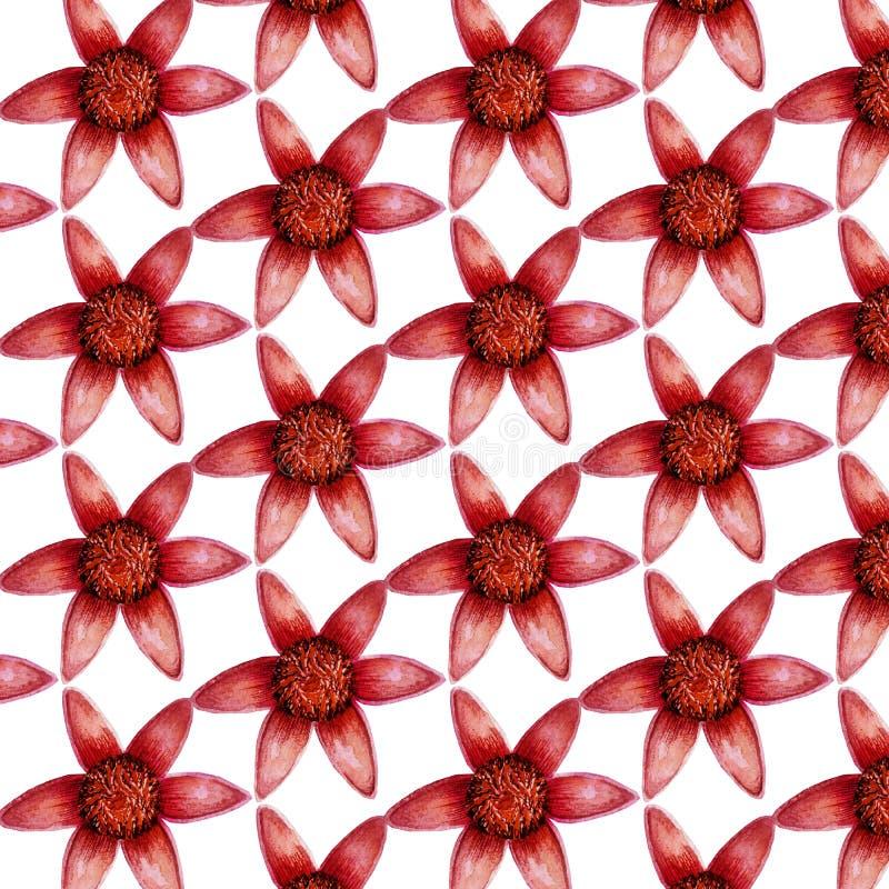 Картина милых красочных маленьких цветков безшовная на белой предпосылке для ткани, ткани, текстуры, упаковочной бумаги стоковое изображение