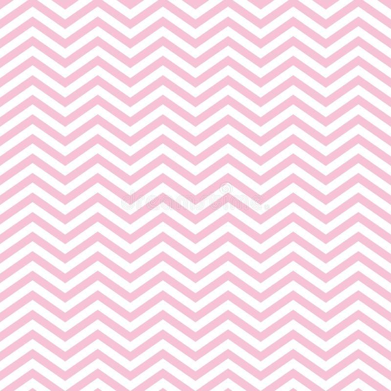 Картина младенца зигзага безшовная с розовым Шевроном иллюстрация вектора