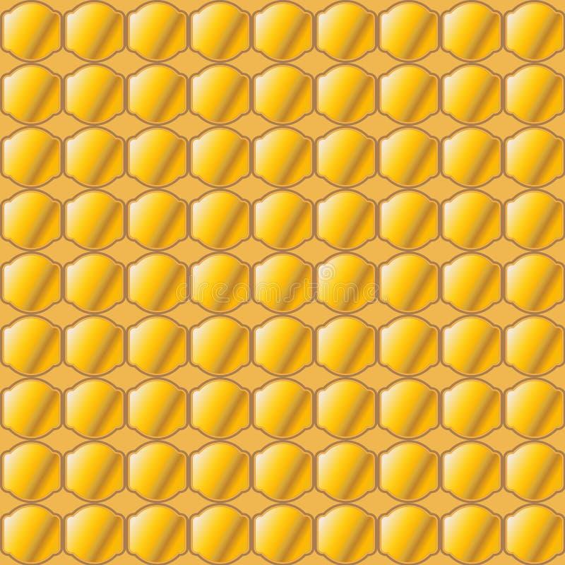 Картина мозаики меда абстрактная иллюстрация штока