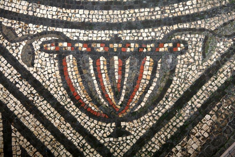 картина мозаики chalice римская стоковые фотографии rf