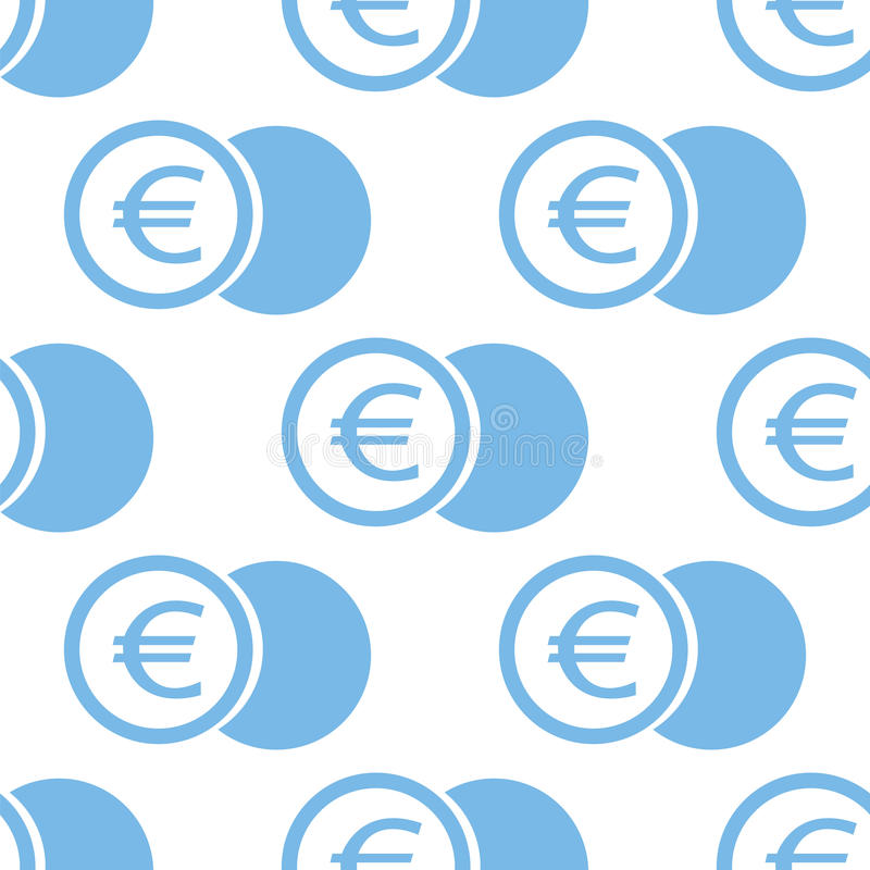 Картина монетки евро безшовная иллюстрация штока