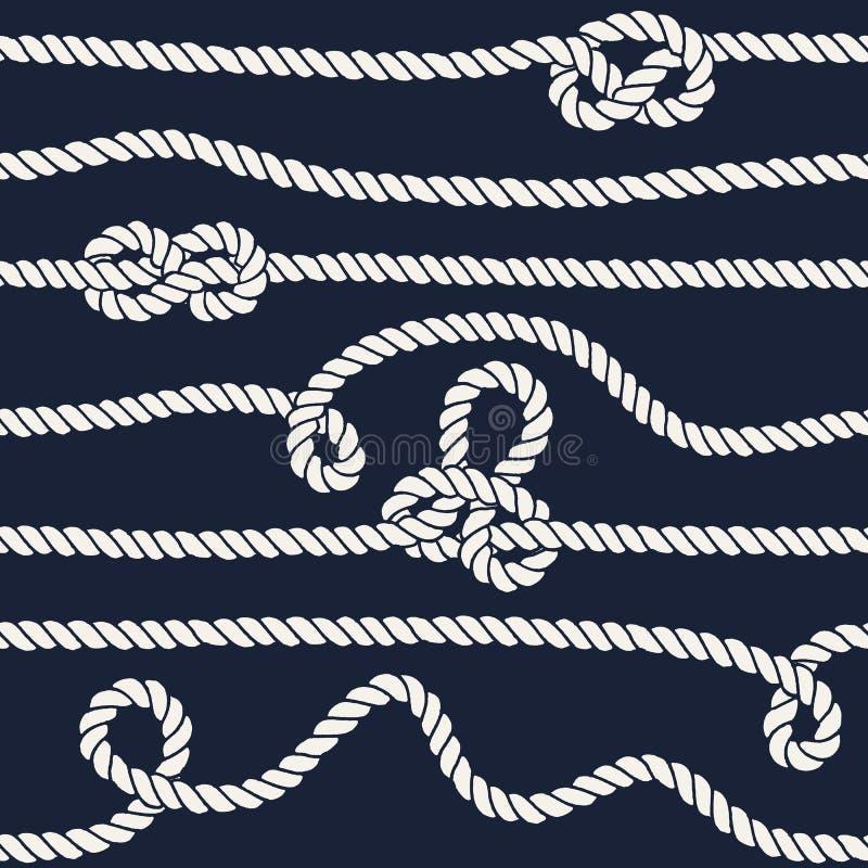 Картина морского узла веревочки безшовная бесплатная иллюстрация