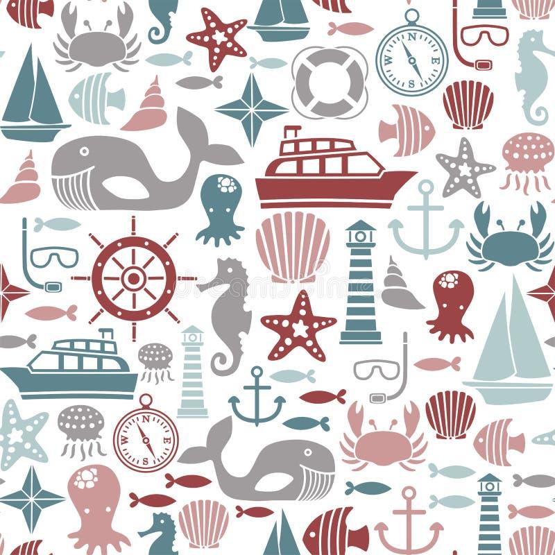 Картина моря иллюстрация вектора