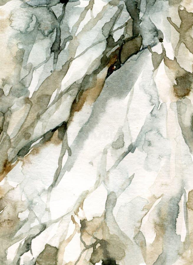 Картина мрамора цвета воды иллюстрация вектора
