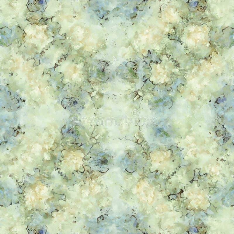 Картина мраморизованной бумаги конспекта безшовная иллюстрация штока
