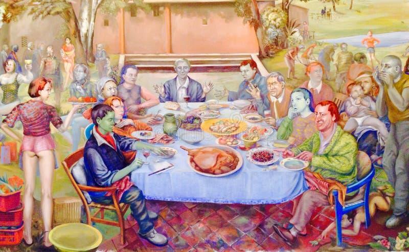 Картина музея изобразительных искусств стоковые изображения