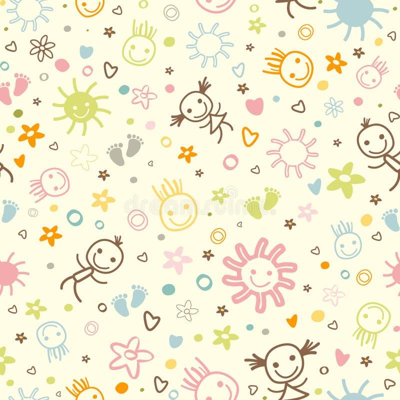 Картина младенца безшовная иллюстрация вектора