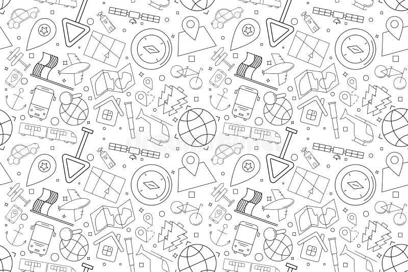 Картина навигации вектора Предпосылка навигации безшовная иллюстрация вектора