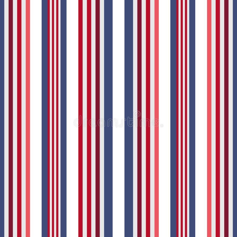 Картина нашивок ретро стиля цвета США безшовная Абстрактный вектор бесплатная иллюстрация