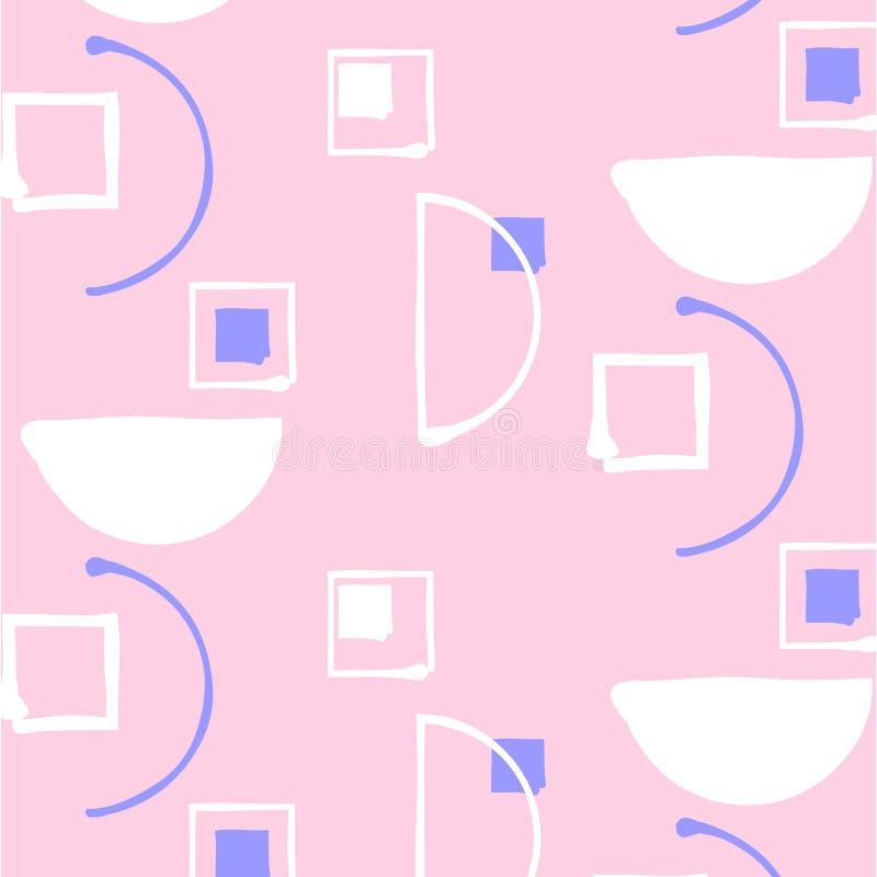 Картина нейтрального вектора геометрическая minimalistic с прямоугольником иллюстрация вектора