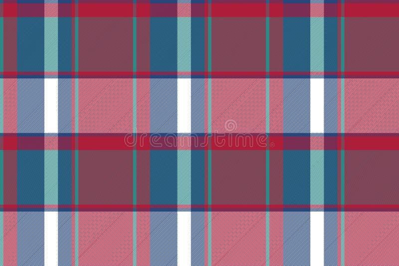 Картина несимметричной абстрактной шотландки проверки безшовная иллюстрация штока