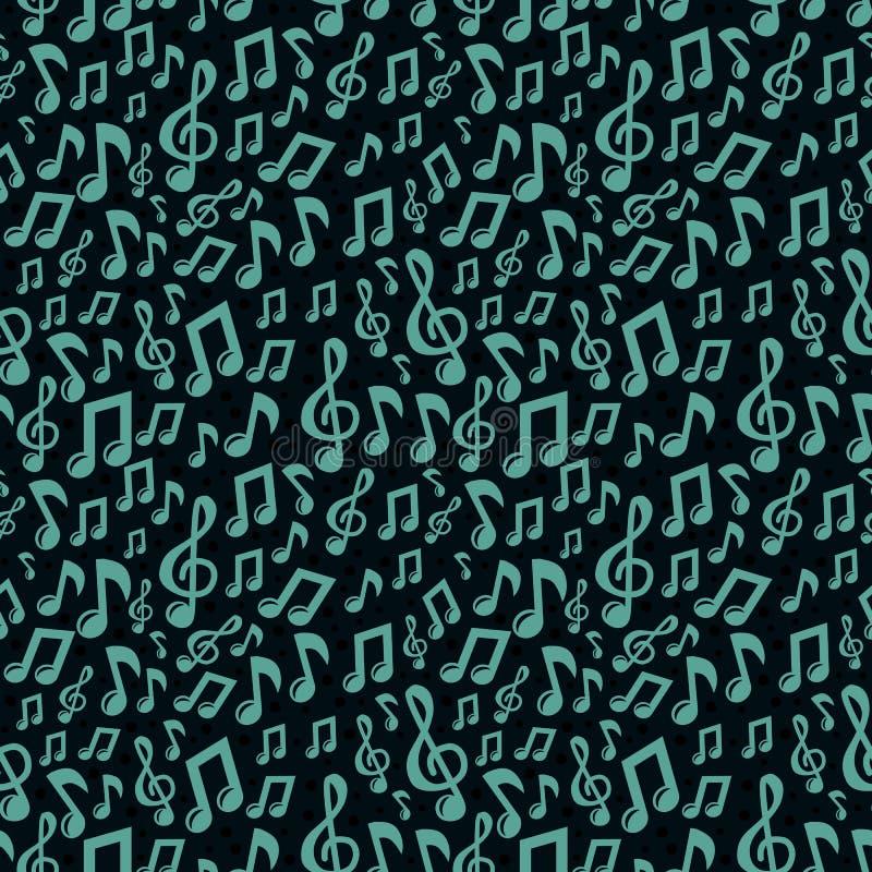 Картина нот вектора безшовная с иконами бесплатная иллюстрация
