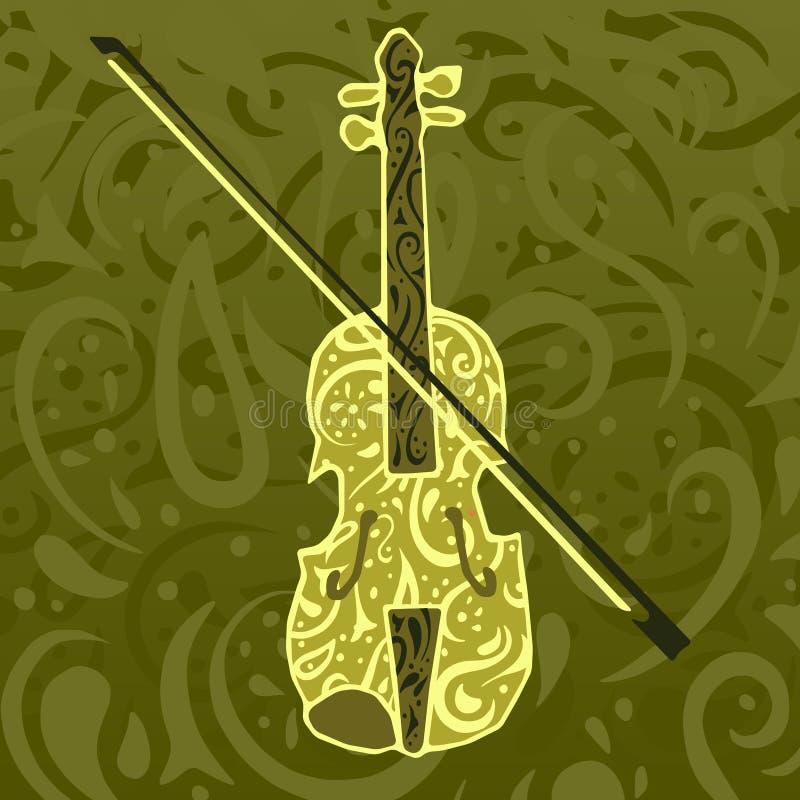 картина нот скрипки страны иллюстрация штока