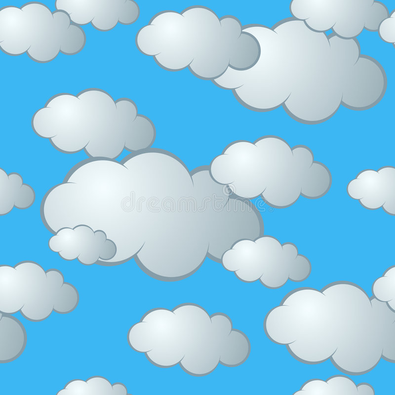 картина облака безшовная иллюстрация штока